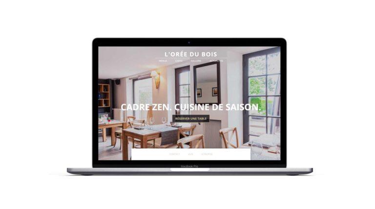 Site vitrine - Restaurant - L'Orée du Bois - Condette