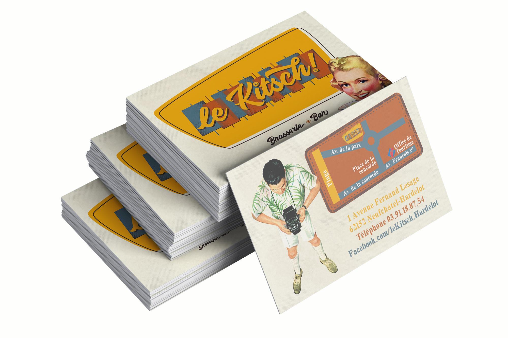 Cartes de visite - Brasserie - Le Kitsch ! - Hardelot